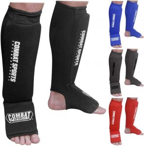 Combat Sports Washable Padded Shin Guards
