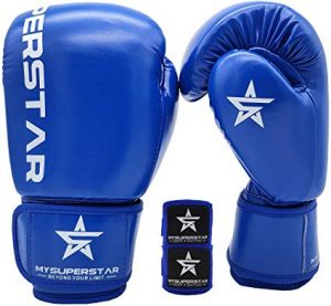 Mysuperstar Pro Boxing Gloves for Training Sparring Muay Thai Kickboxing