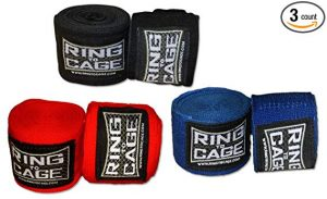 Ring to Cage Boxing and MMA Mexican Stretch Hand Wraps 180 Inches Long - Pack Of 3 Pairs