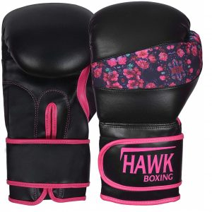 Women's Flower Leather Training Gloves From Hawk Pink Boxing