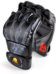 Zooboo Mma Gloves, Half-finger Boxing Fight Gloves